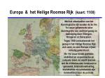 europa het heilige roomse rijk kaart 1100