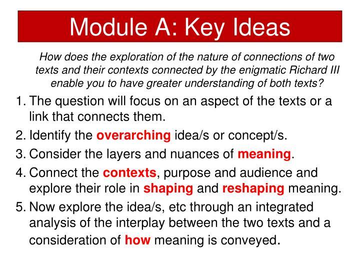 Module A: Key Ideas