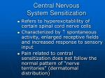 central nervous system sensitization