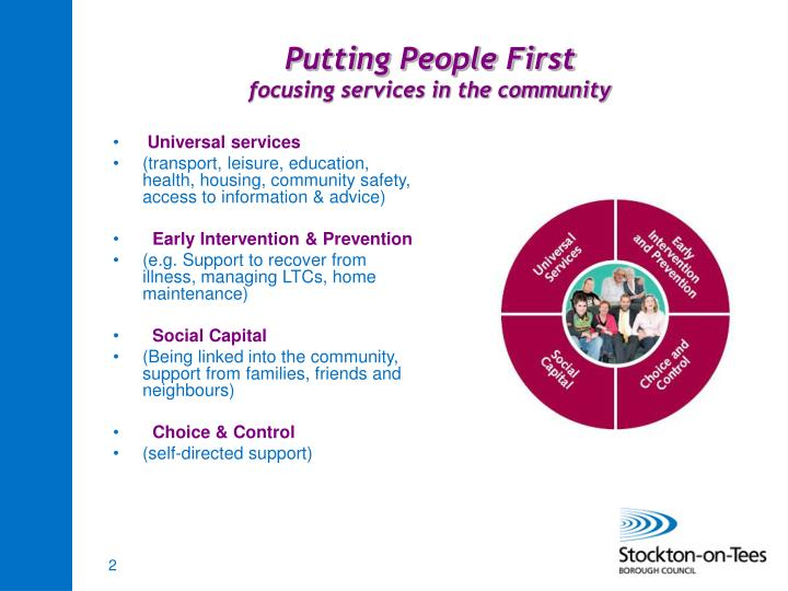 Putting people first focusing services in the community