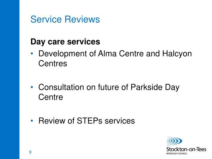 Service Reviews