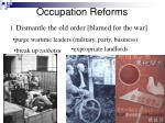 occupation reforms