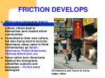 friction develops