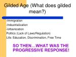 so then what was the progressive response
