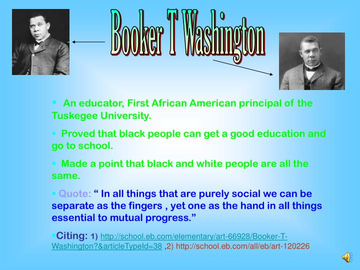 booker t washington 8 pages works cited