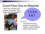 count from one on materials
