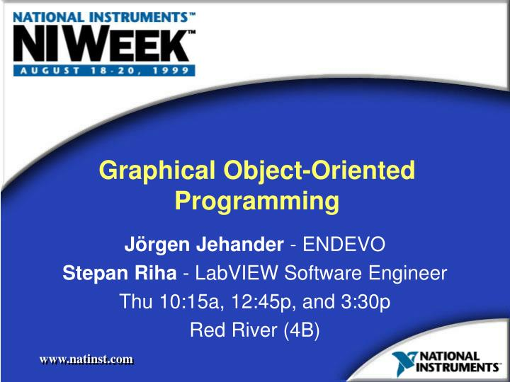 Graphical object oriented programming
