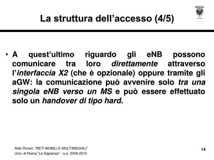 La struttura dell'accesso (4/5)