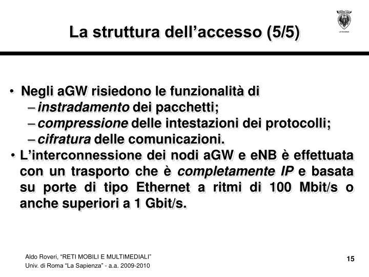 La struttura dell'accesso (5/