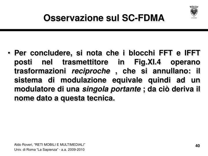 Osservazione sul SC-FDMA