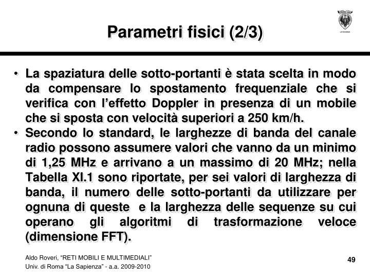 Parametri fisici (2/3)