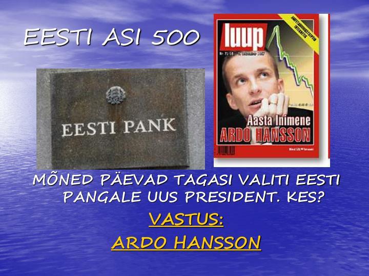 EESTI ASI 500