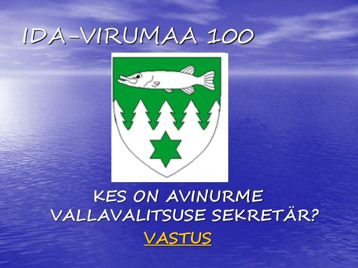 Ida virumaa 100