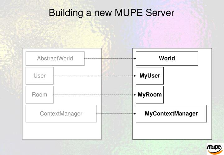Building a new MUPE Server
