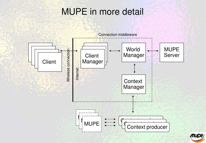 MUPE in more detail