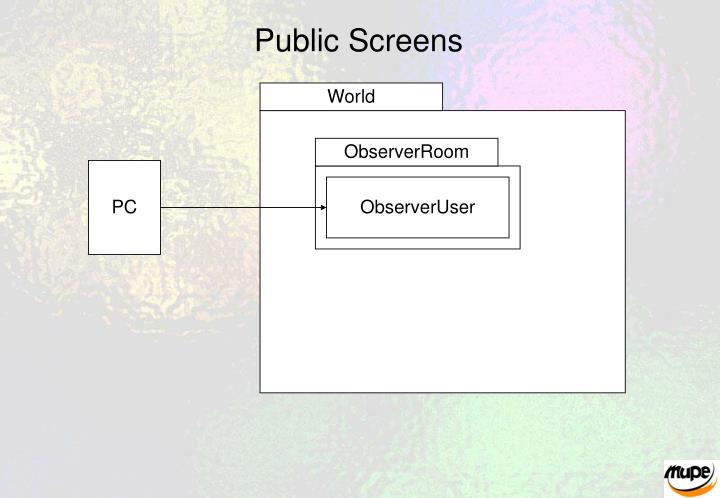 Public Screens