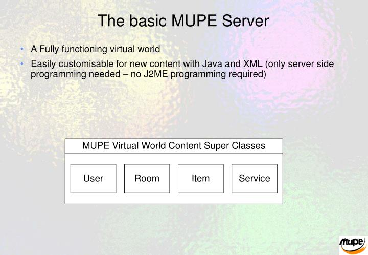 The basic MUPE Server