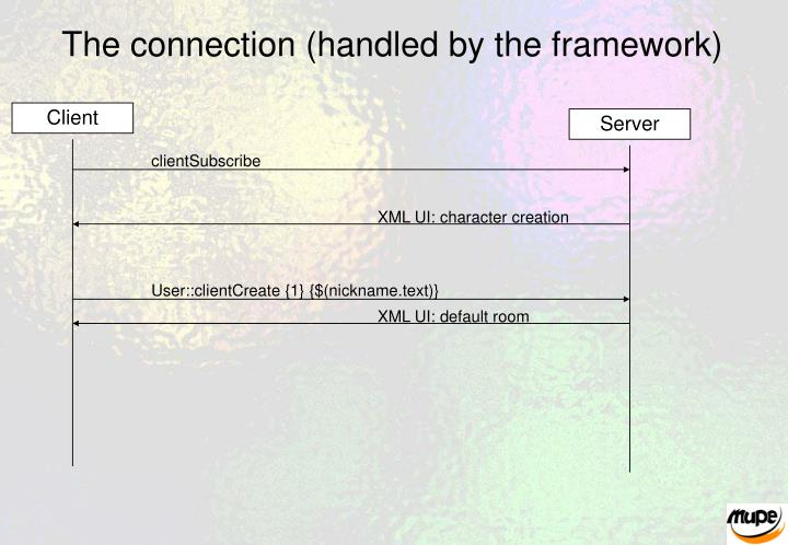 The connection (handled by the framework)
