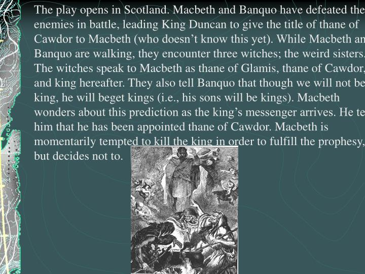 comparison between macbeth and banquos response to Sometimes it's hard to keep track of what banquo is up to during macbeth luckily, we've got you covered.