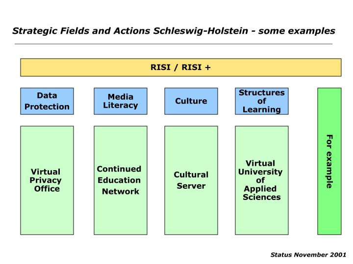 Strategic Fields and Actions Schleswig-Holstein - some examples