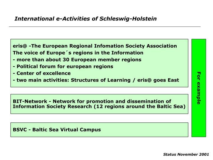 International e-Activities of Schleswig-Holstein