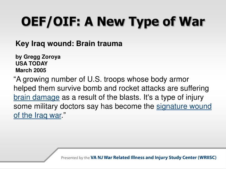 Oef oif a new type of war