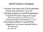 geoff huston s analysis