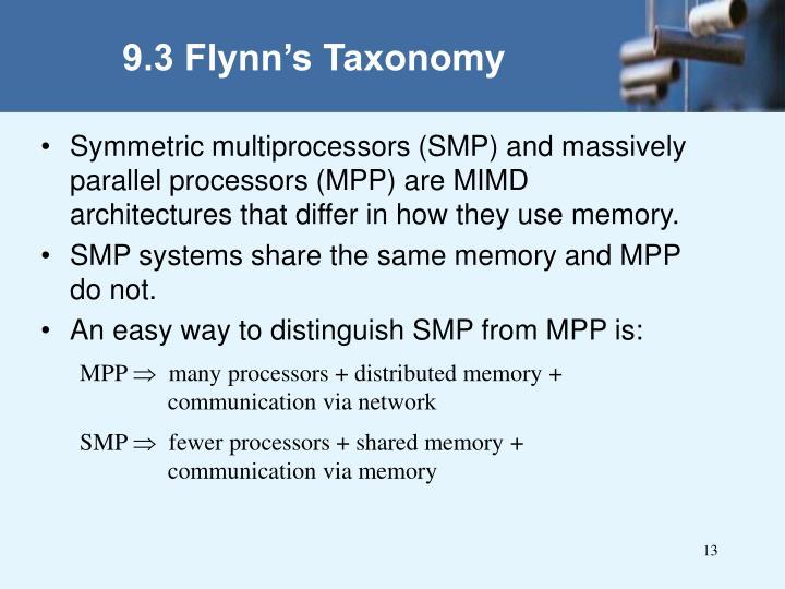 9.3 Flynn's Taxonomy