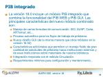 pib integrado