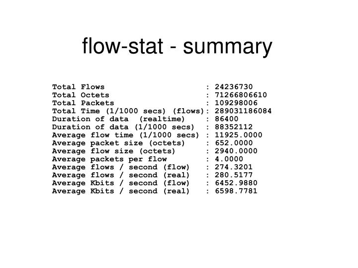 flow-stat - summary