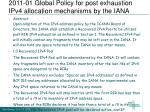 2011 01 global policy for post exhaustion ipv4 allocation mechanisms by the iana1