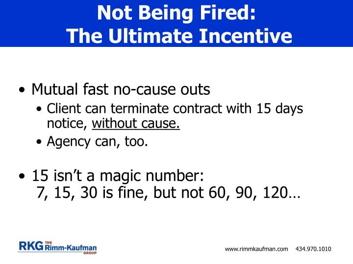 Not Being Fired: