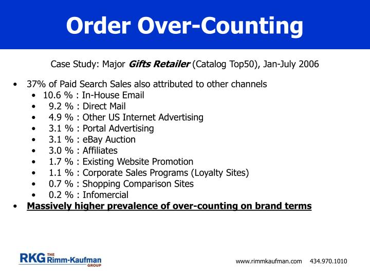 Order Over-Counting