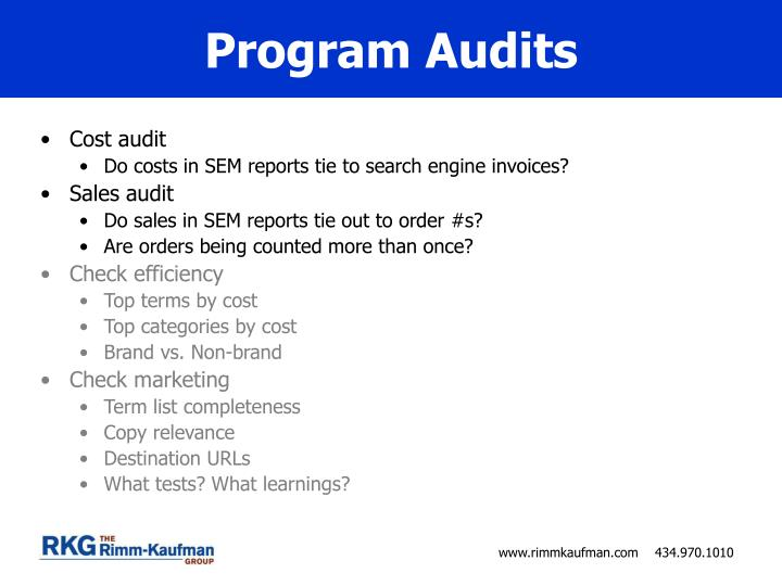 Program Audits