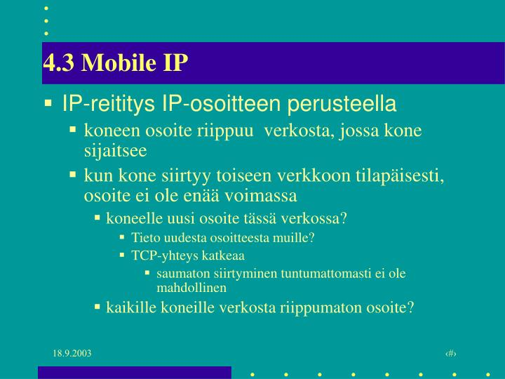 4.3 Mobile IP