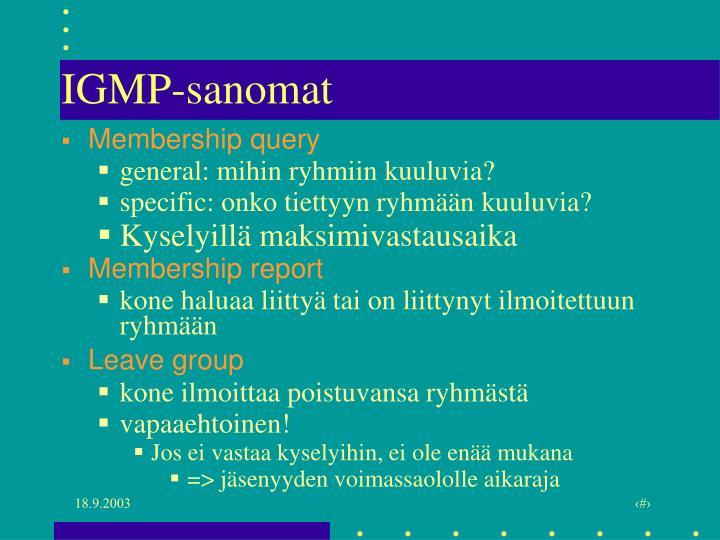 IGMP-sanomat