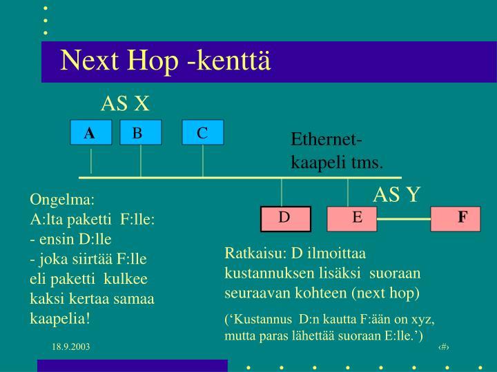 Next Hop -kenttä