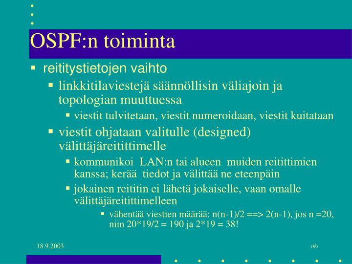 OSPF:n toiminta
