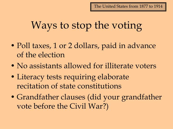 Ways to stop the voting