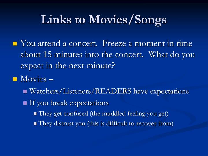 Links to Movies/Songs