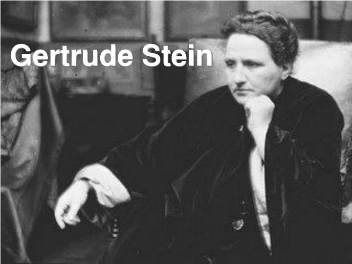 gertrude stein portraits and repitition