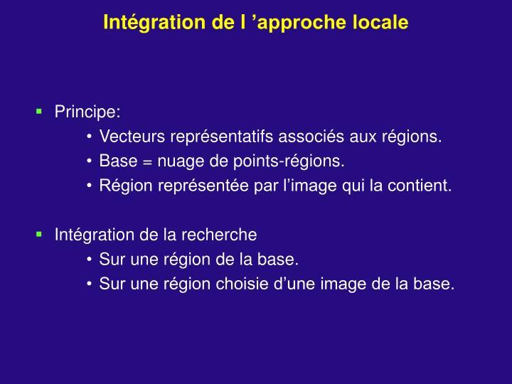 Intégration de l'approche locale