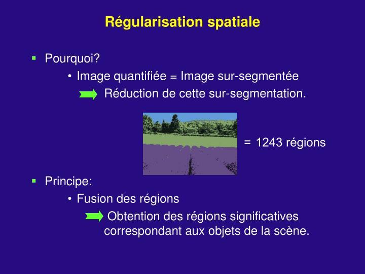 Régularisation spatiale