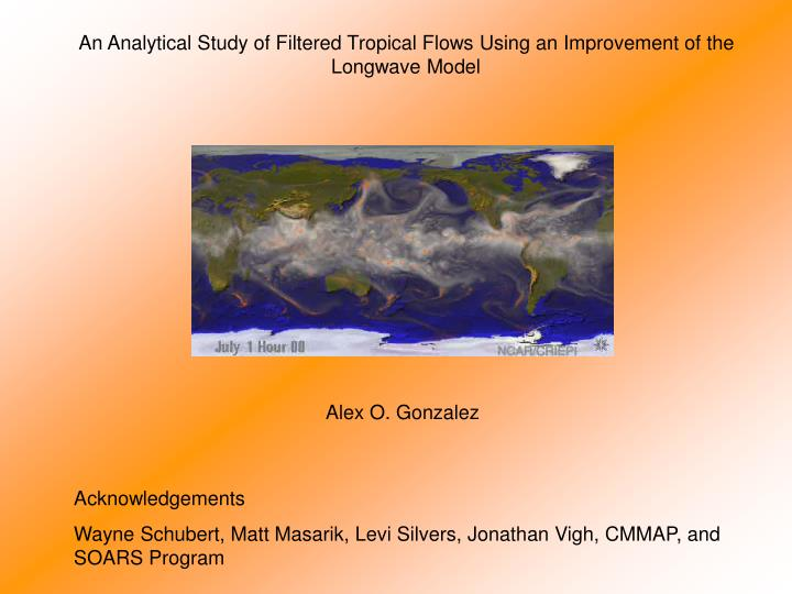 An Analytical Study of Filtered Tropical Flows Using an Improvement of the Longwave Model