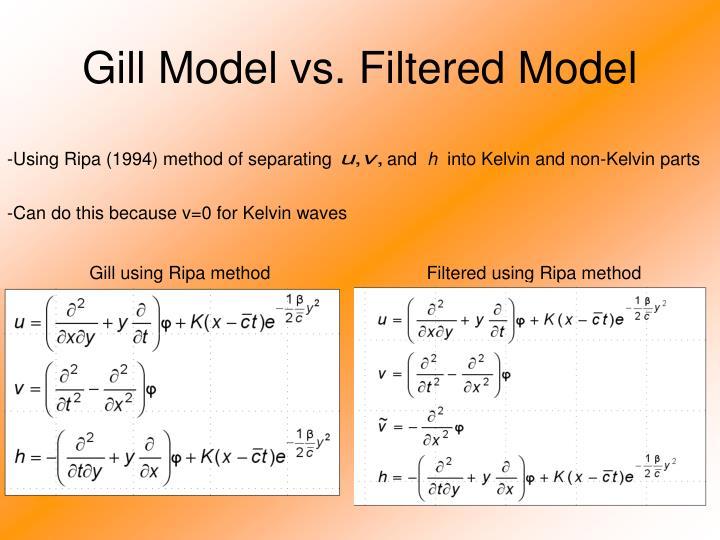 Gill Model vs. Filtered Model