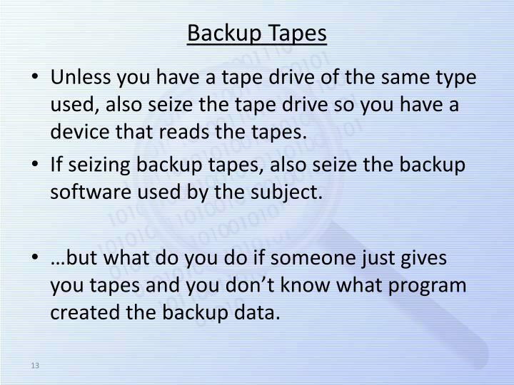 Backup Tapes