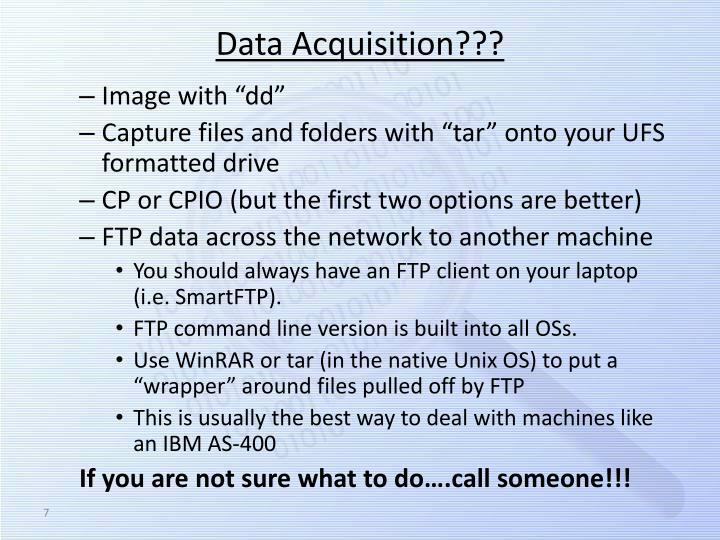 Data Acquisition???