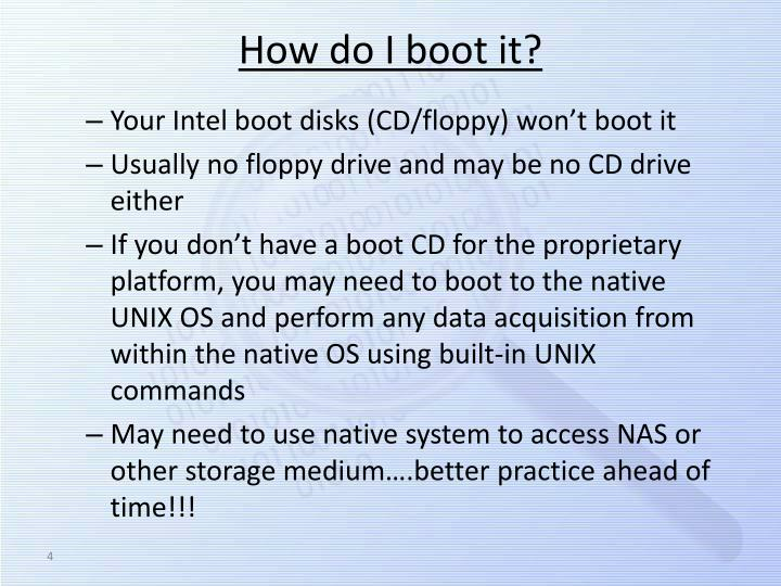How do I boot it?
