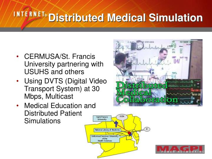 Distributed Medical Simulation