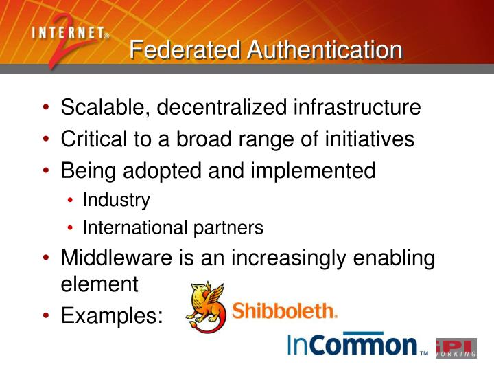 Federated Authentication